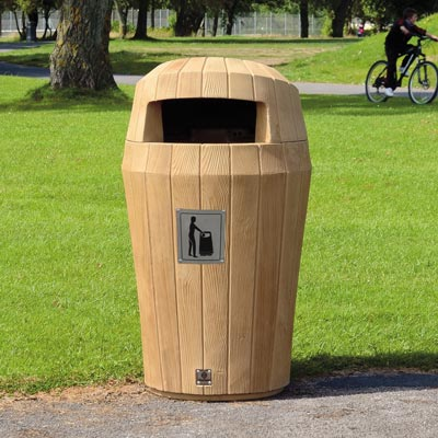 Park Trash Cans