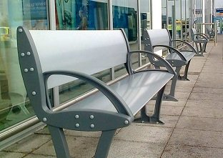 Three Alturo seats at a transport location