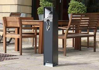 Ashguard public smokers area cigarette butt disposal bin