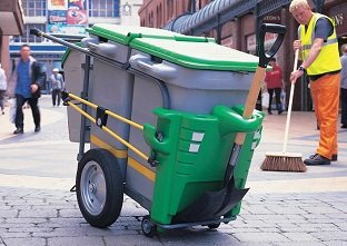 Double Space-Liner litter collection street orderly barrow with green color options