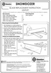Snowdozer Blade Replacement Instructions