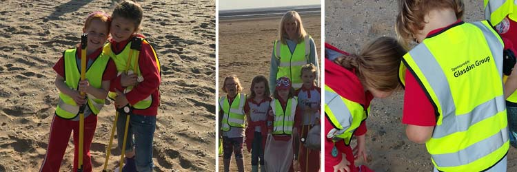 Rainbows Recycling Challenge Hits the Beach