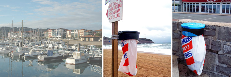 Stylish Beach Bins in Hendaye