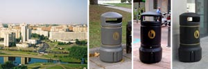 Slimline Litter Bins for Belarus