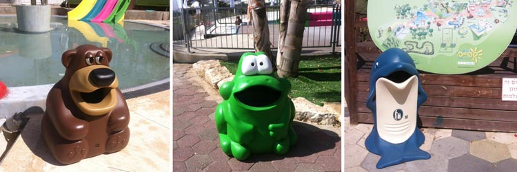 A bear, a frog and a dolphin go to Shefayim Waterpark, Israel