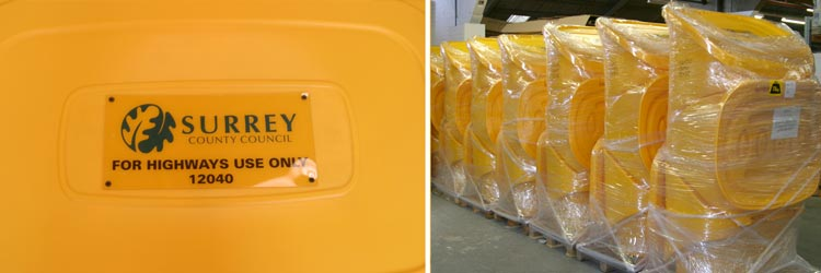 Are you aware we can Personalise your Grit Bins?