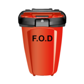 Cut out GIL FOD Bin 7G - bright red and post-mounted