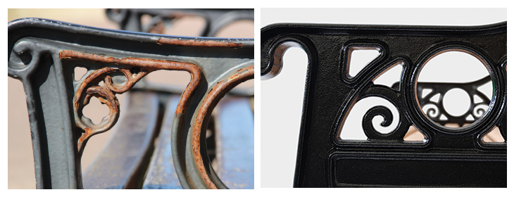Lowther Park Bench Material Comparison