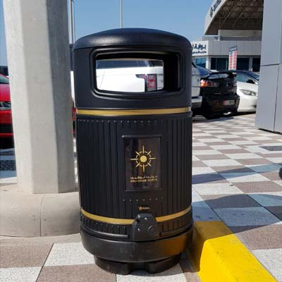 Topsy Royale Litter Bin at Abu Dhabi Ports