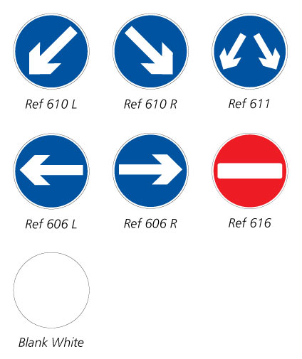 What is this? Sign face options