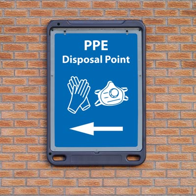 Advocate™ Wall Mounted PPE Poster Display Sign