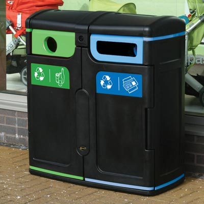 Gemini™ Newspaper & Magazine / Mixed Glass Recycling Bin