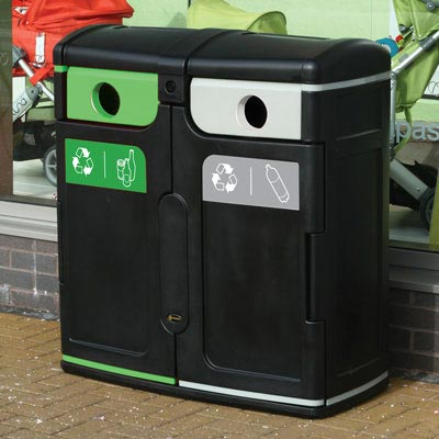 Gemini™ Plastic Bottle / Mixed Glass Recycling Bin