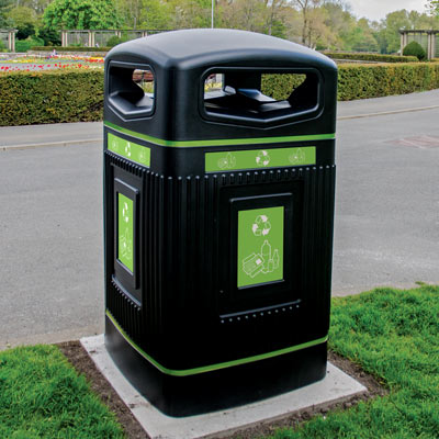 Glasdon Jubilee™ 240 Mixed Recycling Wheelie Bin Housing