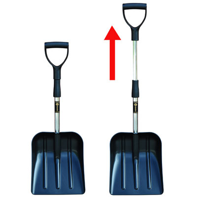 Glasdon Snospade's handle can be quickly adjusted using the twist lock grip