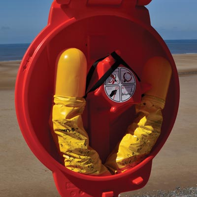 B-Line rescue device can be easily stored in a Guardian Lifebuoy Housing