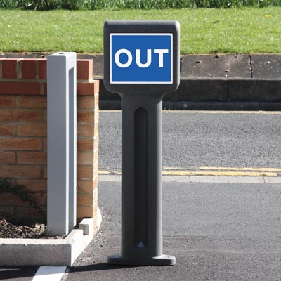 Infomaster™ Signage Bollard Add PPE Pick up Information, Social Distancing or Other Signage