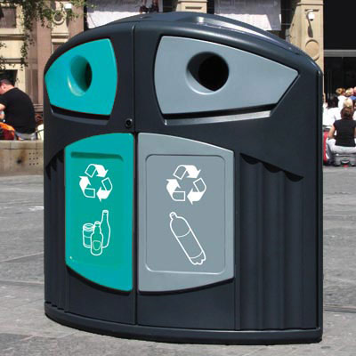 Nexus® 200 Plastic Bottle / Mixed Glass Recycling Bin