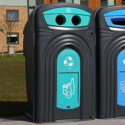 Nexus® 360 Mixed Glass Recycling Bin