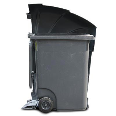 Nexus 360 litter bin cut-out showing 360 litre wheeled container