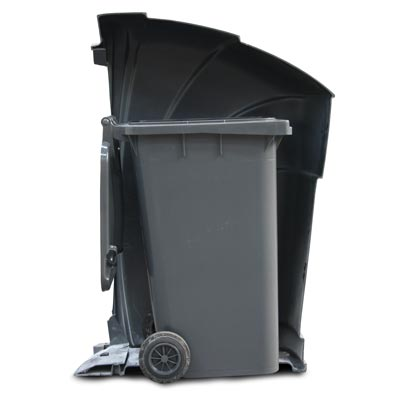 Nexus 360 litter bin cut-out showing 240 litre wheeled container