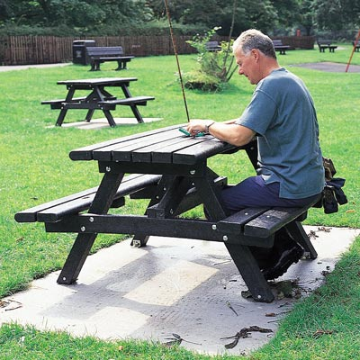 Recycled Material Picnic Table