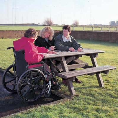 Picnic Table with Wheelchair Access