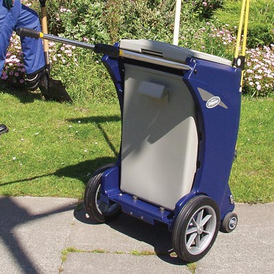 Skipper multi-purpose cleaning trolley with Rigid Liner in Dark Blue
