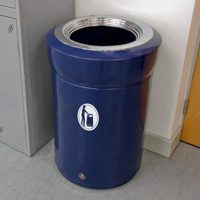 Statesman internal litter bin with chrome rim - Dark Blue