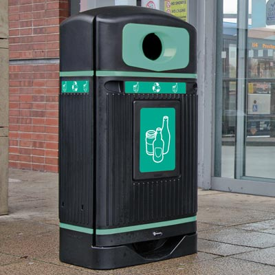 Streamline Jubilee™ Mixed Glass Recycling Bin