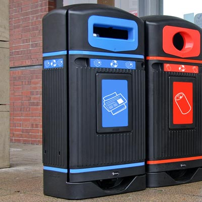 Streamline Jubilee™ Newspaper & Magazine Recycling Bin