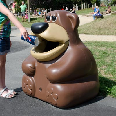TidyBear™ Animal Shaped Litter Bin