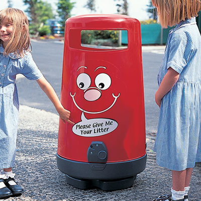 Topsy 2000™ Litter Bin with Billy Bin-it™ Symbol