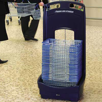 Mobile Basket Buddy - storage unit for baskets in Dark Blue
